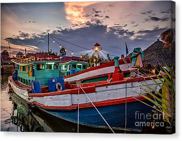 Fishing Boat V2 Canvas Print by Adrian Evans