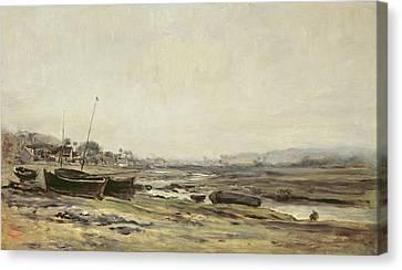 Fishing Boats Canvas Print by Charles Francois Daubigny
