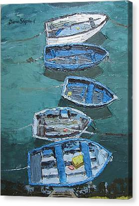 Fishing Boats  Canvas Print by Diana Shephard