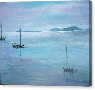 Fishing Boats Canvas Print by Dorothy Herron