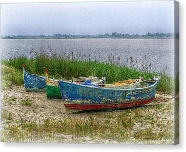Canvas Print featuring the photograph Fishing Boats by Hanny Heim