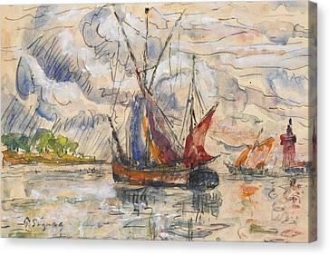 Fishing Boats In La Rochelle Canvas Print