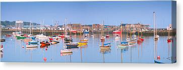 Fishing Boats In The Howth Marina Canvas Print by Semmick Photo
