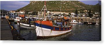 Fishing Boats Moored At A Harbor, Kalk Canvas Print by Panoramic Images