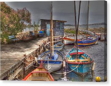 Canvas Print featuring the photograph Fishing Boats by Rod Jones