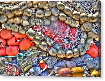 Fishing Bouys Canvas Print by Heidi Smith