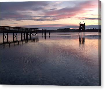 Canvas Print featuring the photograph Fishing Dock Pastel by Suzy Piatt