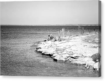 Canvas Print featuring the photograph Fishing by Erika Weber