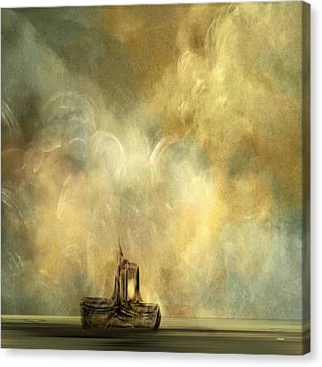 Canvas Print featuring the painting Fishing For Lost Souls by Andrew Penman