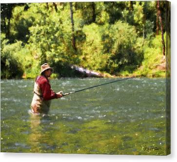 Fishing For Salom Canvas Print