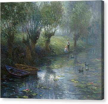 Fishing Canvas Print by Ghambaro