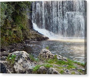 Canvas Print featuring the photograph Fishing Hole by Deb Halloran