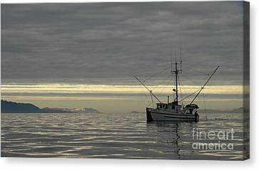 Canvas Print featuring the photograph Fishing In Alaska by Laura  Wong-Rose