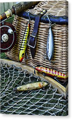 Fishing - Lots Of Gear Canvas Print by Paul Ward