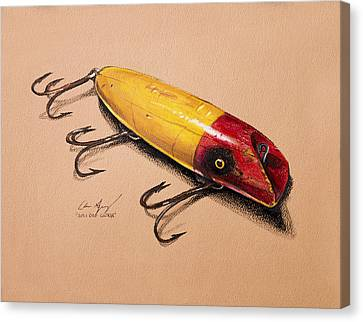 Canvas Print featuring the painting Fishing Lure by Aaron Spong