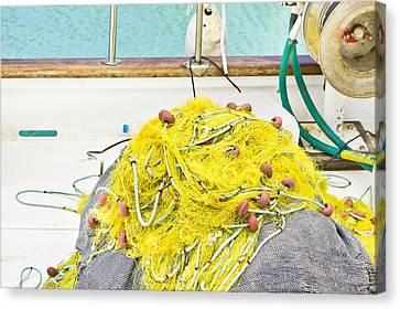 Fishing Net Canvas Print by Tom Gowanlock