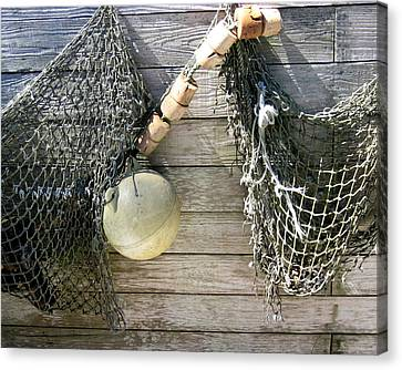 Fishing Nets Canvas Print by Dianne Levy