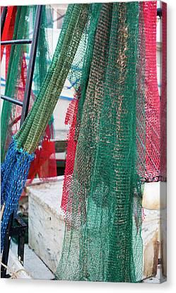 Fishing Nets On A Shrimp Boat Canvas Print