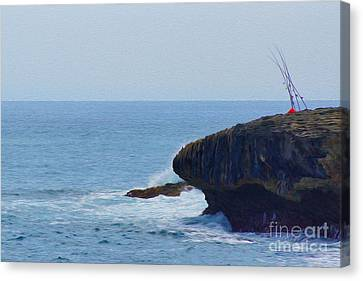 Fishing Canvas Print by Nur Roy