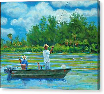 Fishing On The Cooper Canvas Print