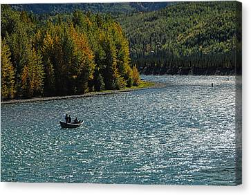 Fishing On The Kenai River Canvas Print by Dyle   Warren