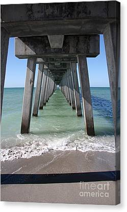 Fishing Pier Architecture Canvas Print