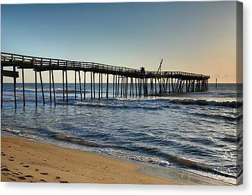 Fishing Pier I Canvas Print by Steven Ainsworth