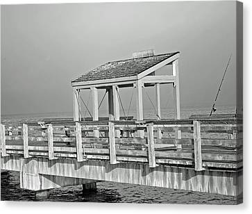 Canvas Print featuring the photograph Fishing Pier by Tikvah's Hope