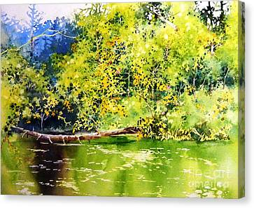 Fishing Pond Canvas Print