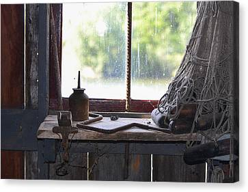 Fishing Shack 2 Canvas Print by Bill Mock