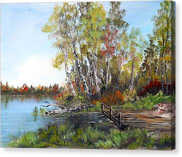 Fishing Spot Canvas Print by Dorothy Maier