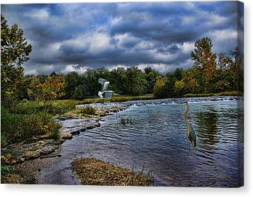 Fishing Spot Canvas Print by Rick Friedle