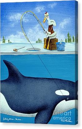 Fishing Stories ... The Orca .. Canvas Print by Will Bullas