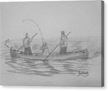 Fishing..... Canvas Print by Subhash Mathew