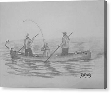 Fishing..... Canvas Print by Subhash Mathew