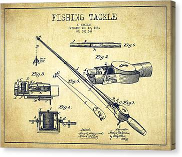 Fishing Tackle Patent From 1884 Canvas Print