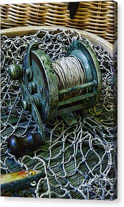 Fishing - That Old Fishing Reel Canvas Print by Paul Ward