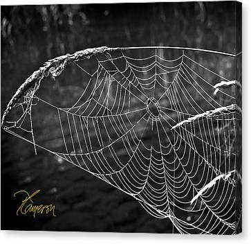 Canvas Print featuring the photograph Fishing The Breeze by Tom Cameron