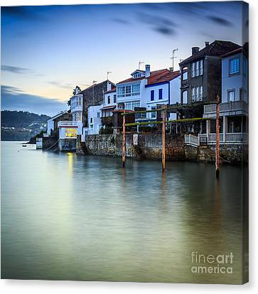 Fishing Town Of Redes Galicia Spain Canvas Print