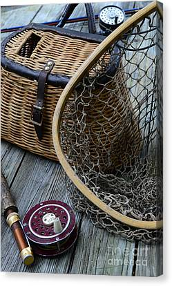 Fishing - Trout Fishing Canvas Print by Paul Ward