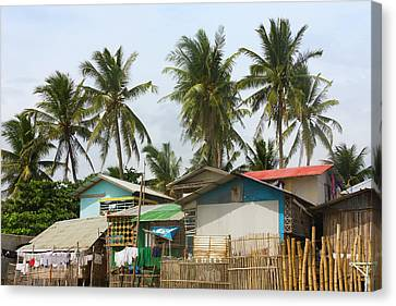 Fishing Village, City Of Iloilo Canvas Print