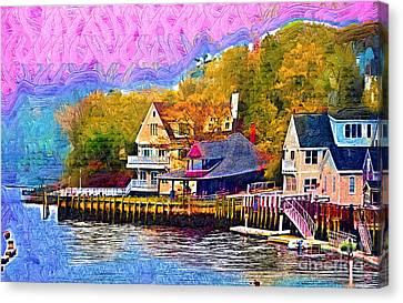 Fishing Village Canvas Print by Kirt Tisdale