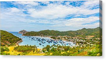 Fishing Village Canvas Print by MotHaiBaPhoto Prints