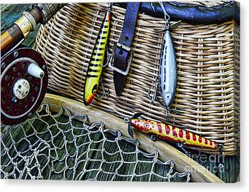 Fishing - Vintage Fishing Lures  Canvas Print by Paul Ward