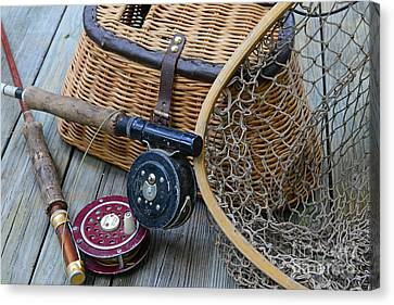 Fishing - Vintage Fishing  Canvas Print by Paul Ward