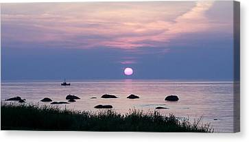 Fishing With Fire Canvas Print by Dan Comeau