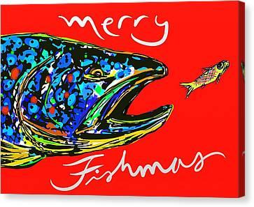 Fishmas Trout Canvas Print