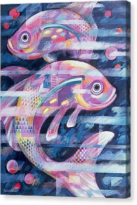 Fishstream Canvas Print by Sarah Porter