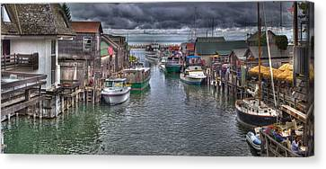 Fishtown Panorama Canvas Print by Twenty Two North Photography