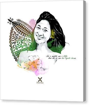 Fisi Niue Canvas Print by Iata Peautolu